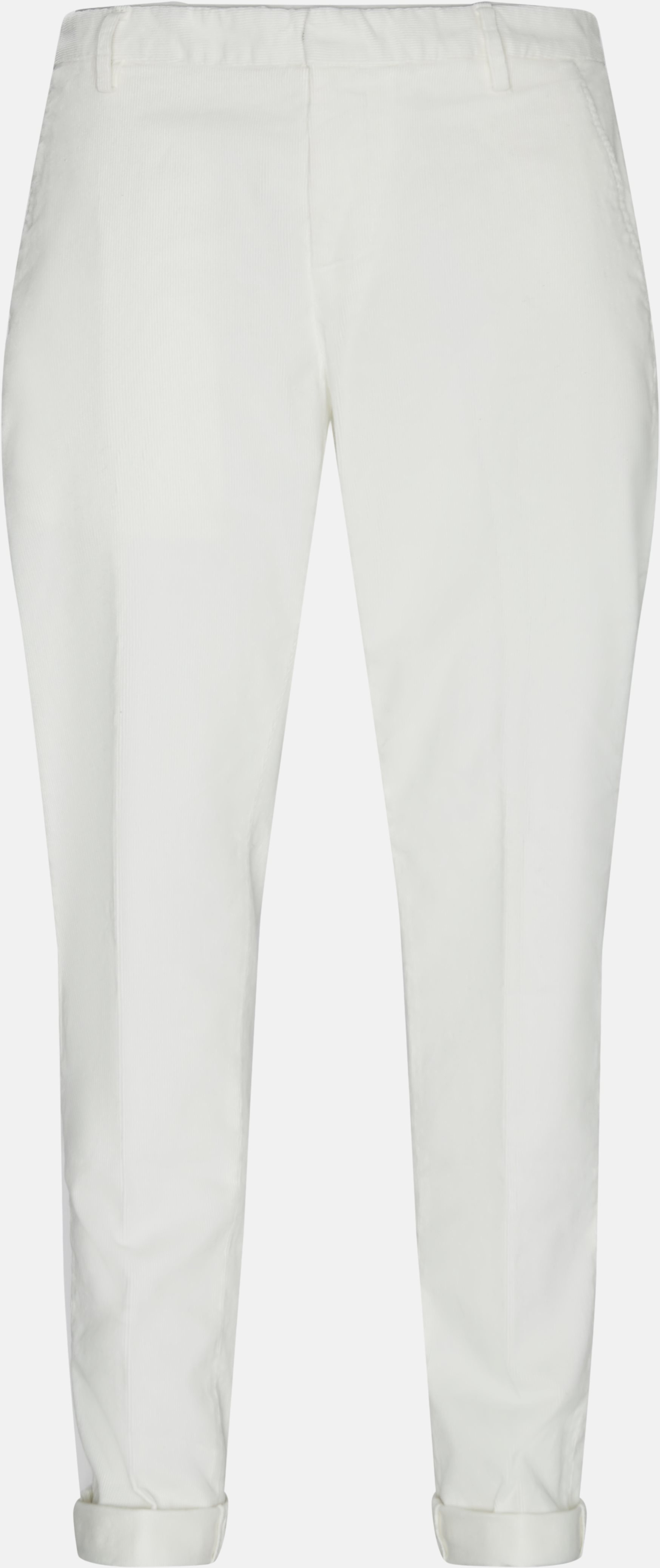 Trousers - Regular fit - White